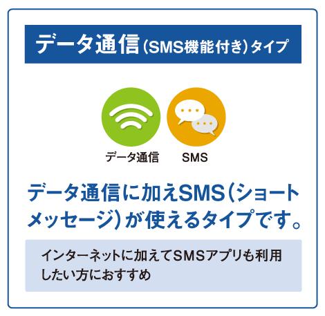 Fiimoのデータ通信(SMS機能付き)タイプ