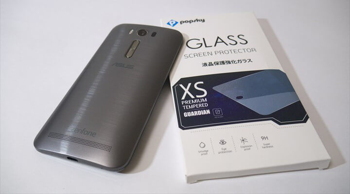 ASUS Zenfone 2 Laser(ZE500KL)にガラスフィルムを貼りましたサムネイル