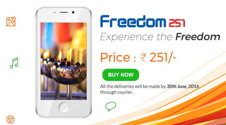 世界最安値のAndroid端末Freedom251は約420円