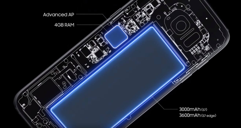 Galaxy S7/S7 egdeの大容量バッテリーとRAM4GB