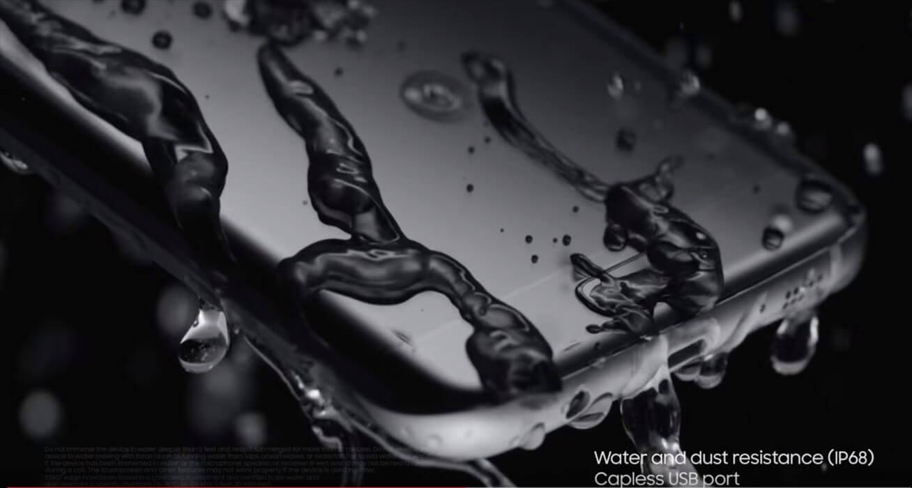 Galaxy S7/S7 egdeは完全防水に対応