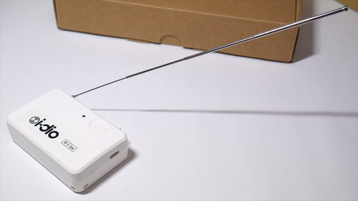 i-dioのチューナーのアンテナを伸ばした