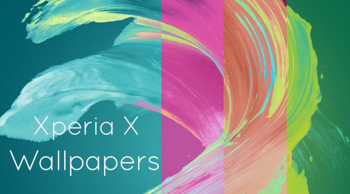 Xperia Xシリーズの壁紙を設定してみた