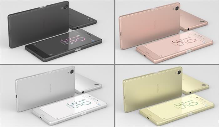 Xperia Xのカラーは4種類