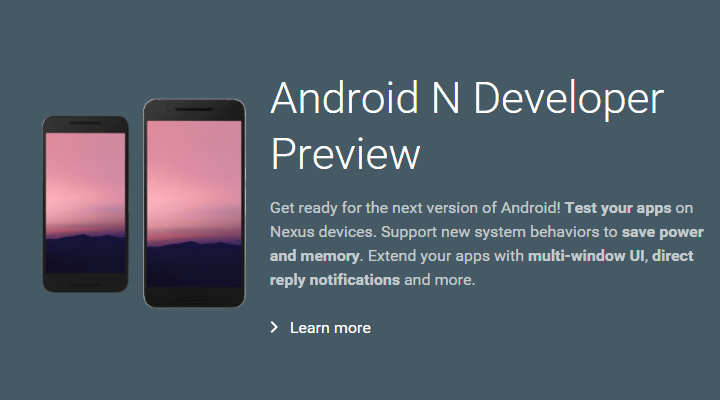Android Nのプレビュー版が公開