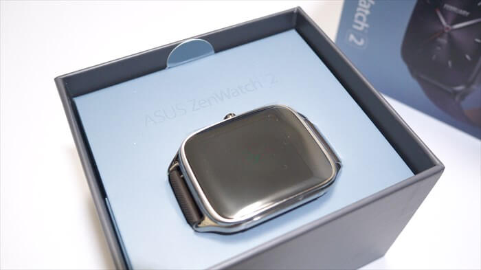 ZenWatch 2の箱を開ける