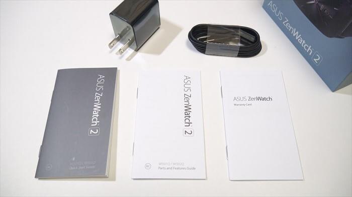 ZenWatch 2の付属品一覧