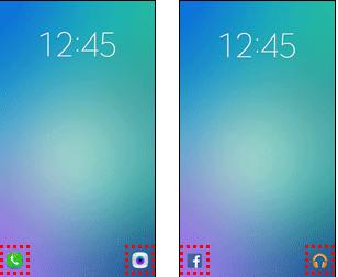 ドコモ版GalaxyS6とS6 edgeのロック画面にアプリショートカットが追加された