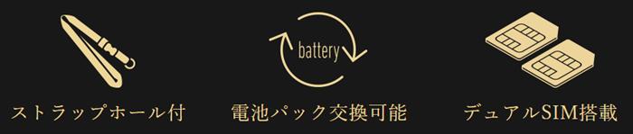 FREETEL MUSASHIのバッテリーの交換は可能でデュアルSIMに対応