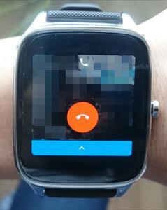 ZenWatch 2の通話中の画面