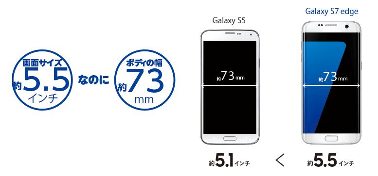 Galaxy S7 edgeは大画面でもスリム