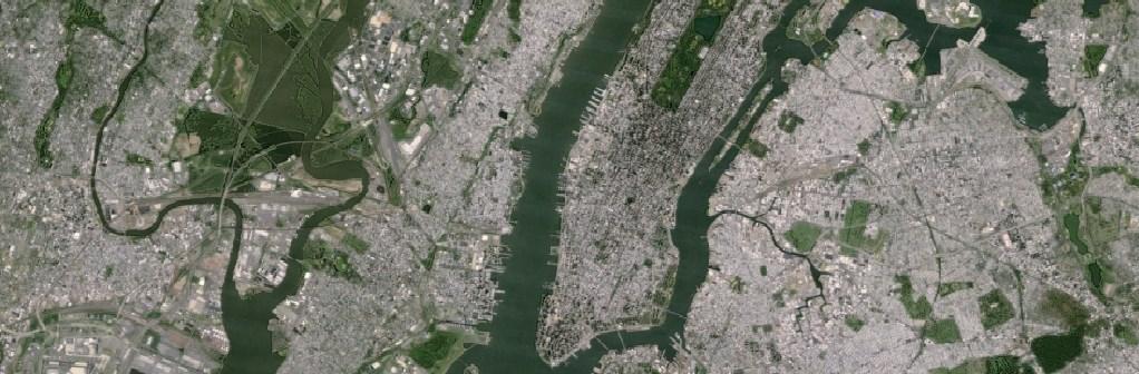 ニューヨークを撮影したGoogleの古い衛星画像