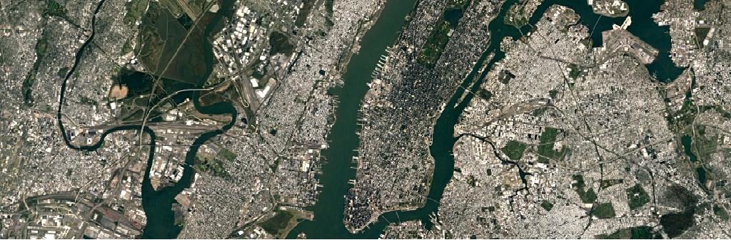 ニューヨークを撮影したGoogleの新しい衛星画像