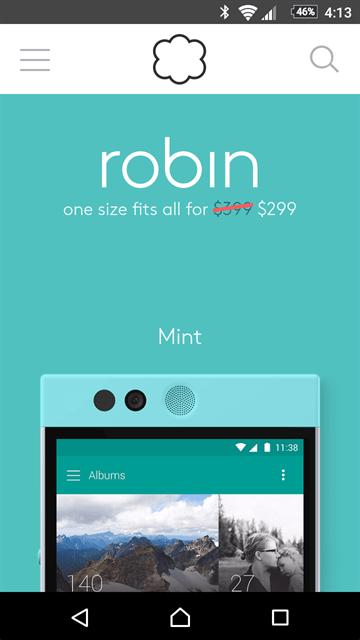 299ドルに値下げされたNextbit Robin