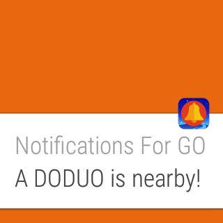 ZenWatch 2にてドードー遭遇通知を受信